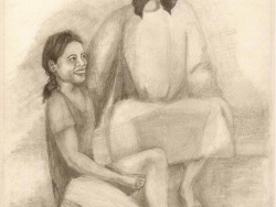 Kristen sitting with Jesus